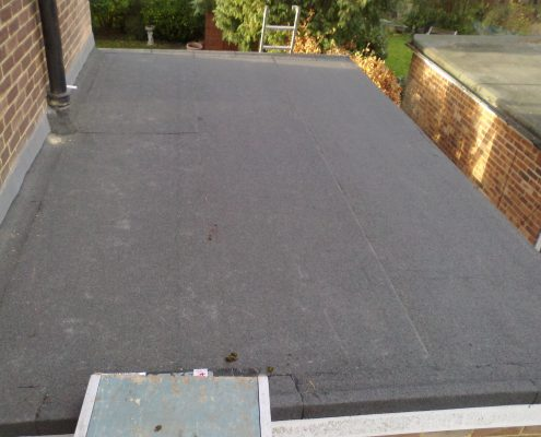 3-Ply Flat Felt Roofing Project in Sutton, Surrey 4