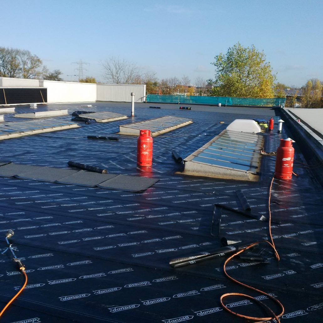Flat Roofing And Scaffolding Project In Guildford Surrey