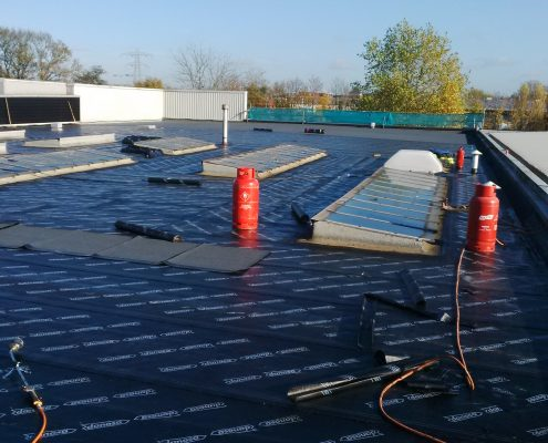 Flat Felt Roofing Project in Guildford 4
