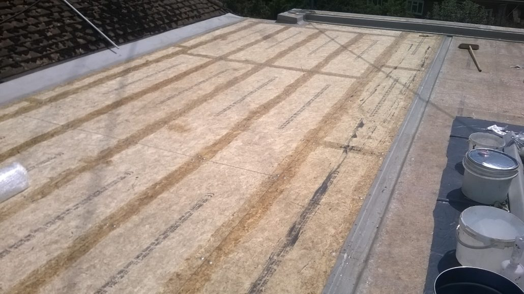 Domestic Grp Fiberglass Roof Installation In Cobham