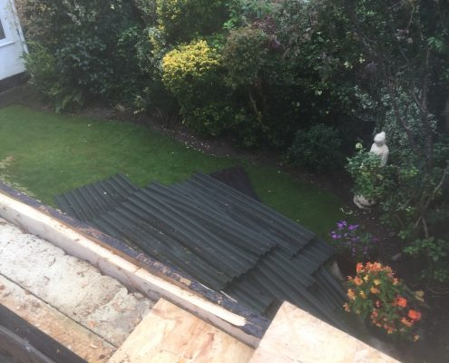 Before: Garage Flat Felt Roofing - New Haw, Surrey 003