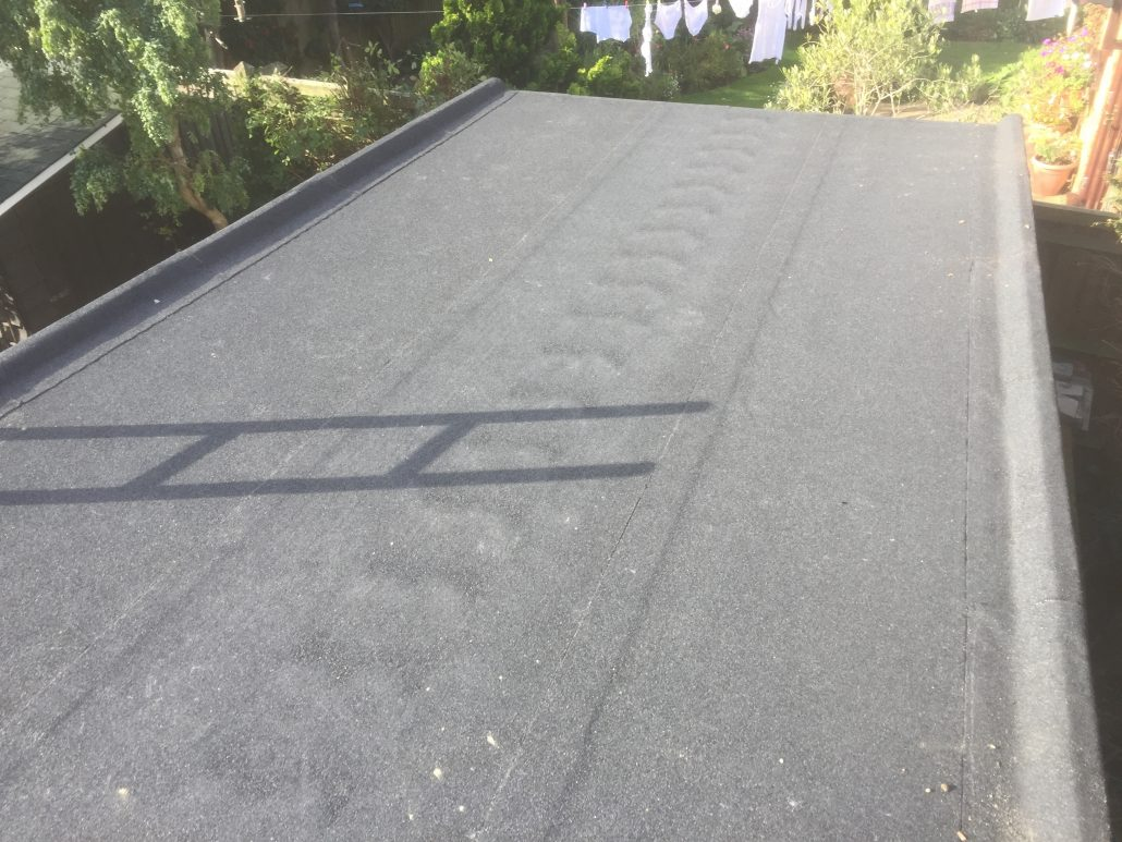 Flat Felt Roof In Holly Avenue New Haw Surrey C F