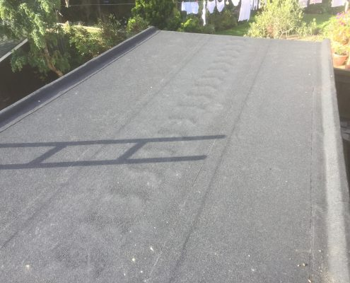 After: Garage Flat Felt Roofing - New Haw, Surrey 004