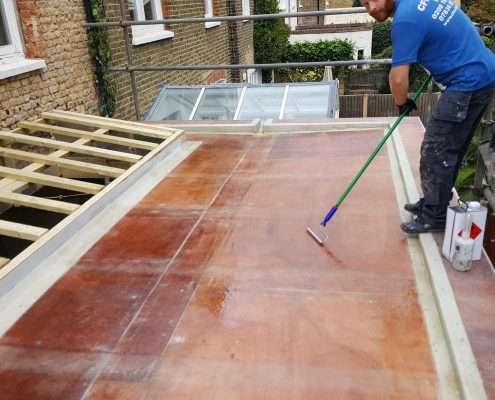 New Build GRP Fibreglass Roof 34 West Park Road, RIchmond 4
