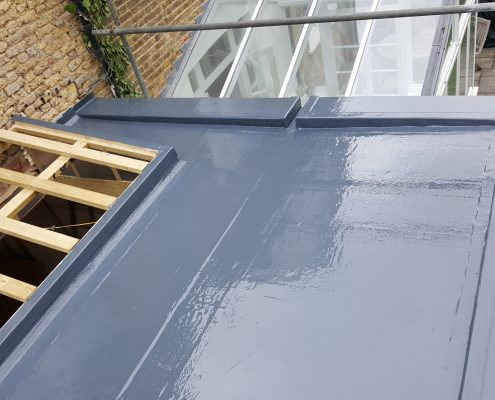 New Build GRP Fibreglass Roof 34 West Park Road, Richmond 10