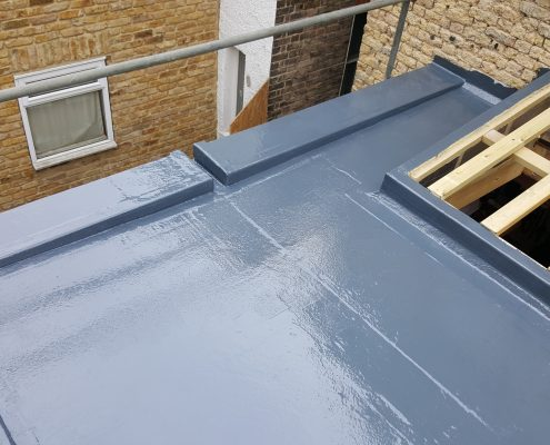 New Build GRP Fibreglass Roof 34 West Park Road, Richmond 11