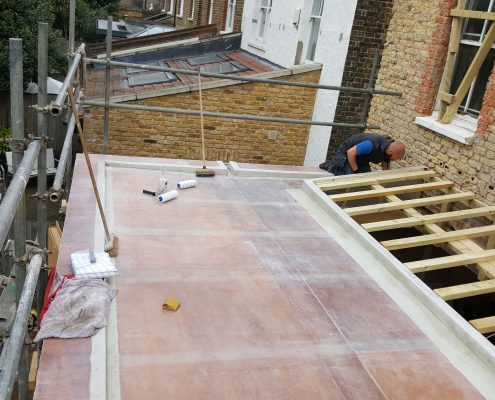 New Build GRP Fibreglass Roof 34 West Park Road, Richmond 7