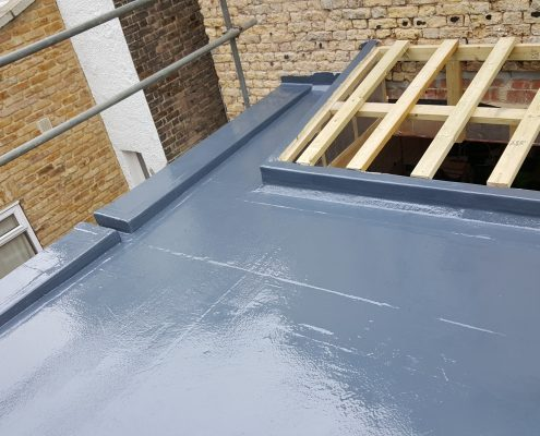 New Build GRP Fibreglass Roof 34 West Park Road, Richmond 9