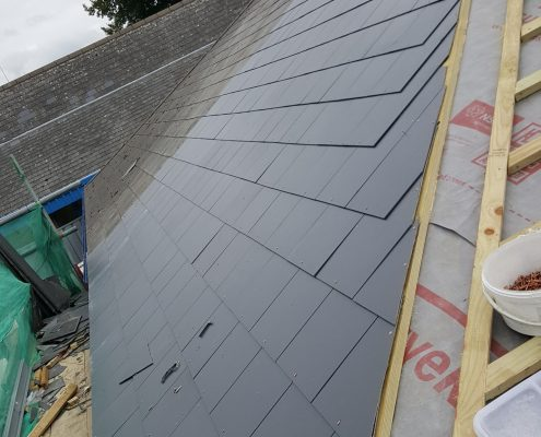 Slate Roofing Ashford Park Primary School, Staines 001