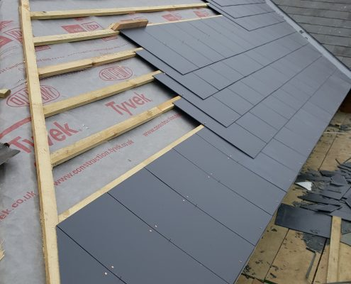 Slate Roofing Ashford Park Primary School, Staines 002