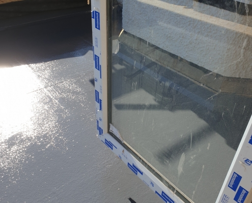 GRP Roof With UPVC Door