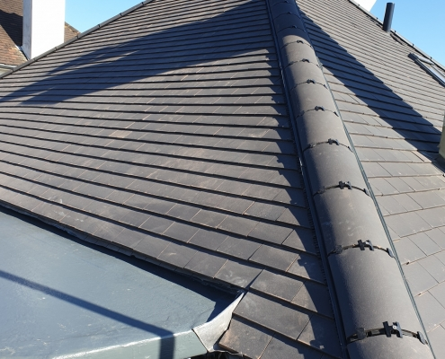 Ridge Tiles and Dormer Roof