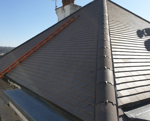 Tiled Roof Side View