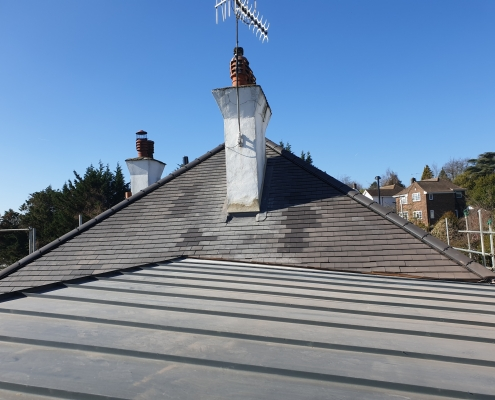 Tiled Roof and Chimney